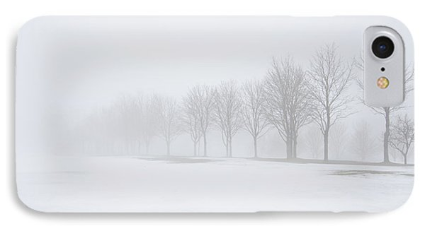 Foggy Day With Snow Phone Case by Donna Doherty