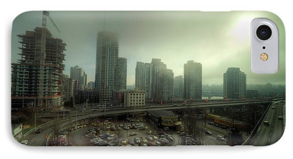 Foggy Downtown Vancouver Phone Case by Eti Reid