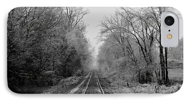 Foggy Ending In Black And White IPhone Case