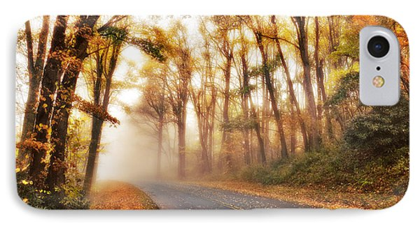 Foggy Fall Wonderland - Blue Ridge Parkway I Phone Case by Dan Carmichael