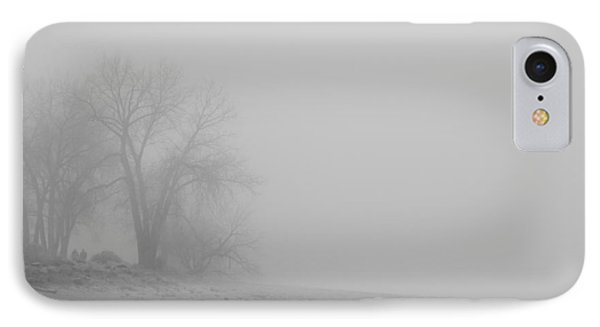 Foggy Lake Shoreline View Bw  Phone Case by James BO  Insogna
