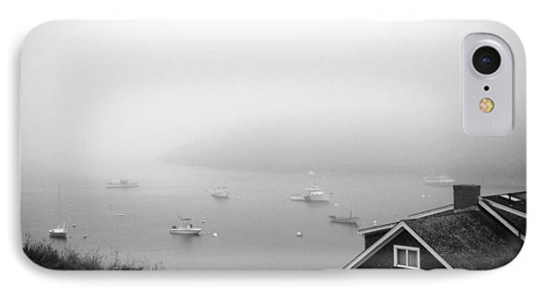 Foggy Manana In Black And White  IPhone Case by Jean Macaluso