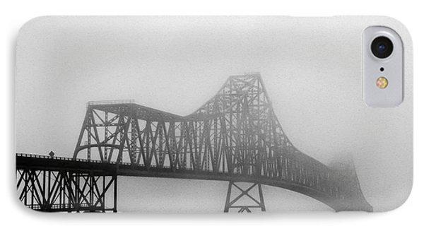 Foggy Megler Bridge IPhone Case by Robert Bales
