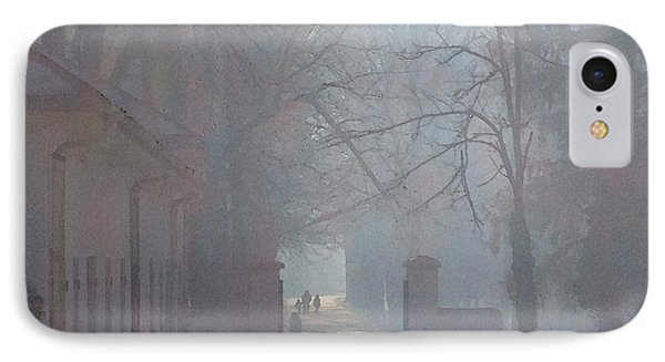 IPhone Case featuring the photograph Foggy Morn Cetinje Montenegro by Ann Johndro-Collins