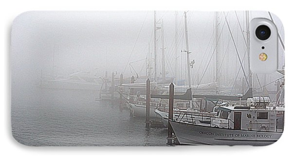 IPhone Case featuring the photograph Foggy Morning In Charleston Harbor by AJ  Schibig