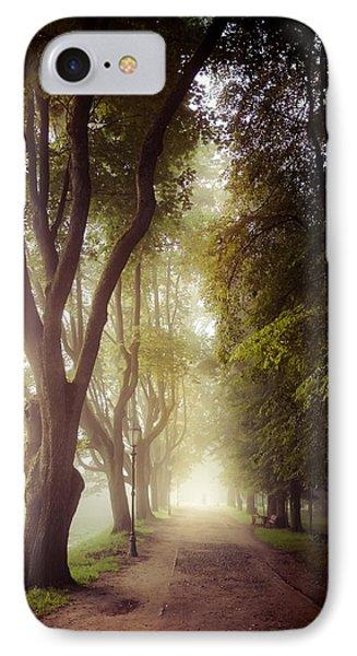Foggy Morning In The Nesvizh Park Phone Case by Sviatlana Kandybovich