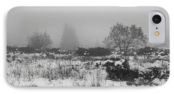 IPhone Case featuring the photograph Foggy Morning Mountain Snow by Jivko Nakev