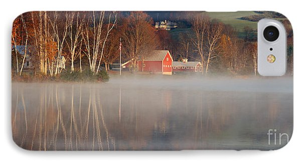 Foggy Morning On Lake Pineo IPhone Case by Butch Lombardi