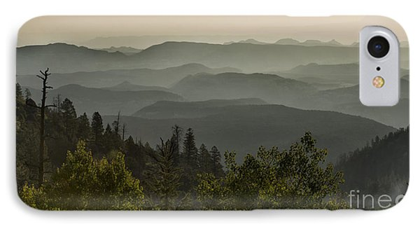 Foggy Morning Over Waterpocket Fold Phone Case by Sandra Bronstein