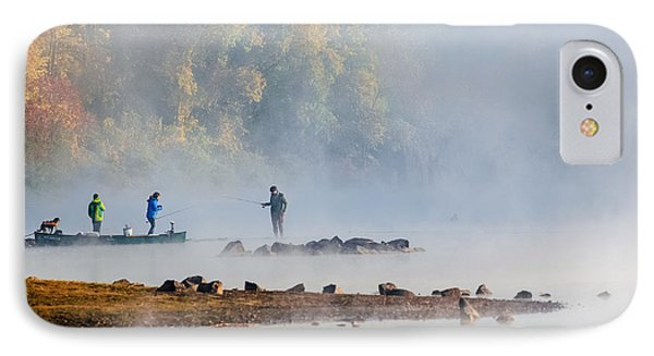 Foggy Morning St Croix River Stillwater Mn IPhone Case by RC Pics