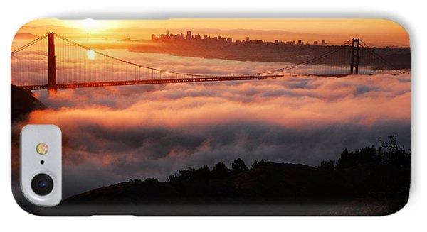 Foggy Morning San Francisco IPhone Case by James Kirkikis