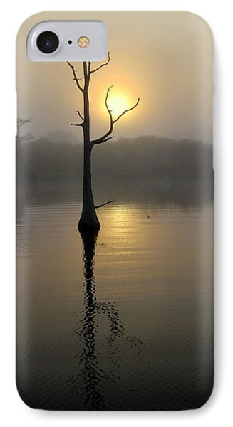 Foggy Morning Sunrise IPhone Case by Myrna Bradshaw