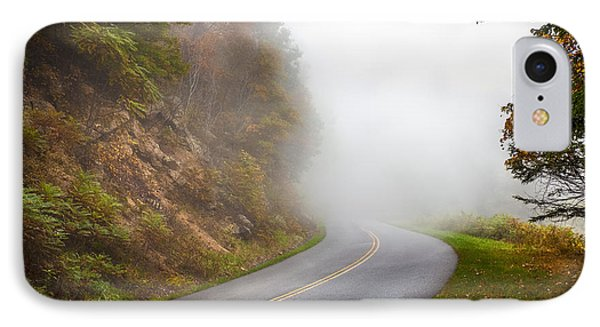 Foggy Parkway IPhone Case by David Cote