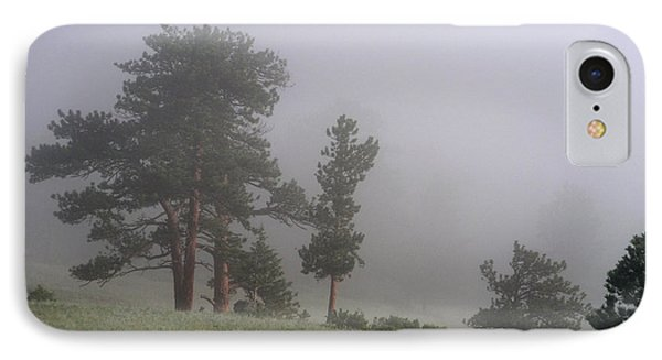 IPhone Case featuring the photograph Foggy Pines by Craig T Burgwardt