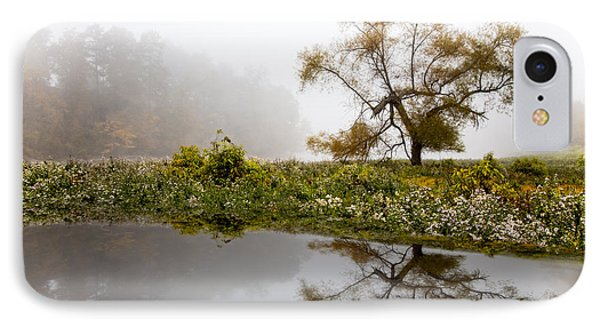 Foggy Reflections Landscape IPhone Case