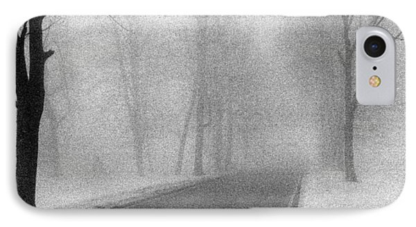 IPhone Case featuring the photograph Foggy Road by Christopher McKenzie