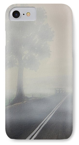 Foggy Road IPhone Case by Tim Mullaney