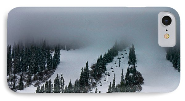 Foggy Ski Resort IPhone Case by Eti Reid