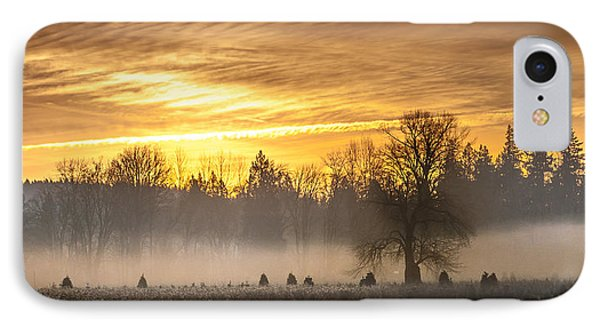 Foggy Sunrise Phone Case by Cassius Johnson