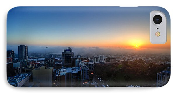 Foggy Sunset IPhone Case by Ray Warren
