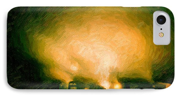 IPhone Case featuring the digital art Foggy Switchyard by Chuck Mountain