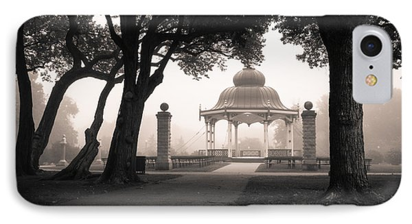Foggy Tower Grove IPhone Case by Scott Rackers