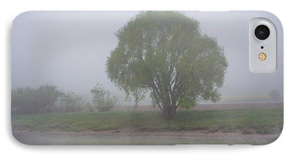 Foggy Elbe Tree IPhone Case