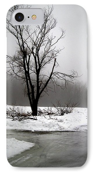 Foggy Tree IPhone Case by Kimberly Mackowski