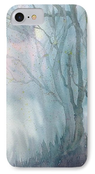 Foggy Trees IPhone Case by Rebecca Davis