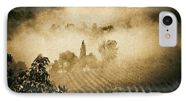 IPhone 7 Case featuring the photograph Foggy Tuscany by Silvia Ganora