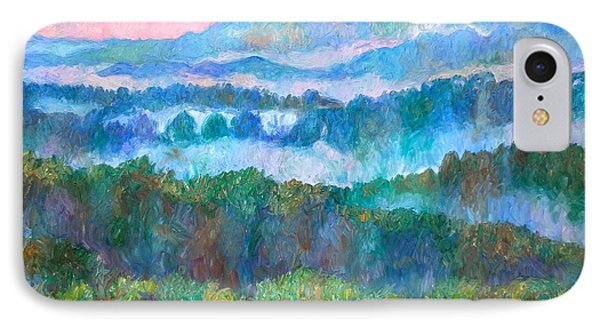 Foggy View From Mill Mountain Phone Case by Kendall Kessler
