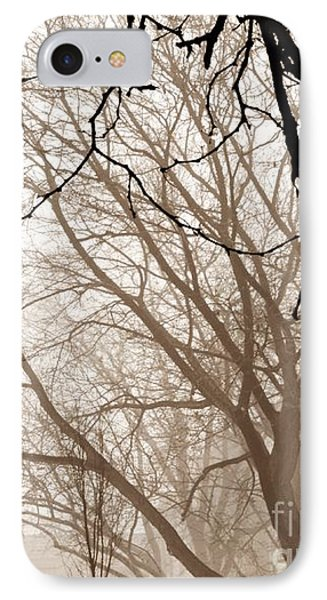 Foggy Winter Afternoon In Sepia IPhone Case