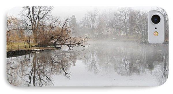 Foggy Winter Creek IPhone Case by Margie Avellino