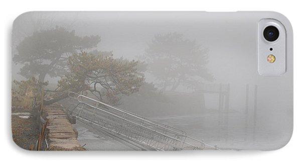 Foggy Winter Harbor IPhone Case by Margie Avellino