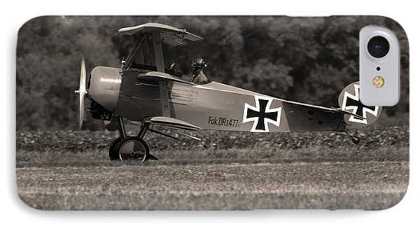 IPhone Case featuring the photograph Fokker Dr1477 Triplane by Timothy McIntyre