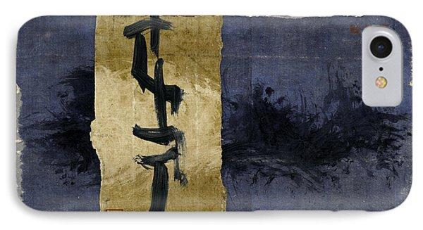 Folded Indigo IPhone Case by Carol Leigh