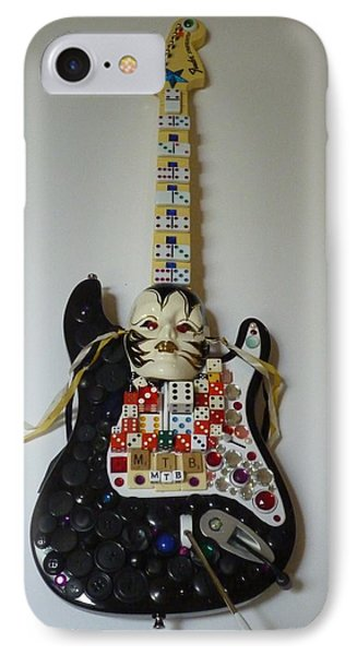 IPhone Case featuring the sculpture M.t.b. Art Guitar by Douglas Fromm