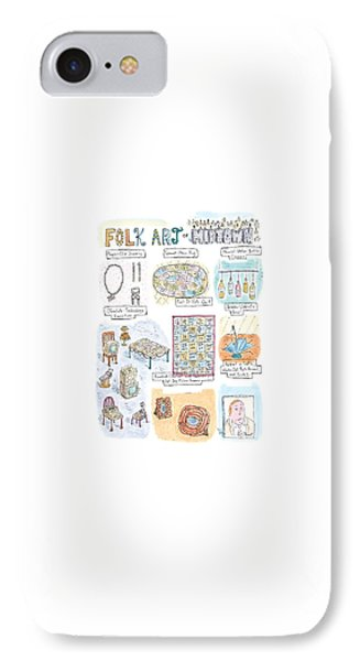 'folk Art Of Midtown' IPhone Case by Roz Chast