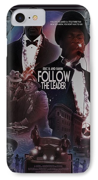 IPhone Case featuring the drawing Follow The Leader 2 by Nelson Dedos Garcia