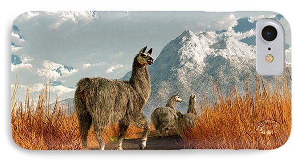 Follow The Llama IPhone Case by Daniel Eskridge