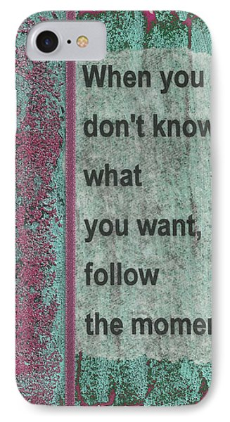 Follow The Moment Phone Case by Gillian Pearce