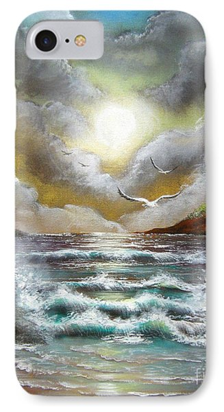 IPhone Case featuring the painting Follow The Wind by Patrice Torrillo