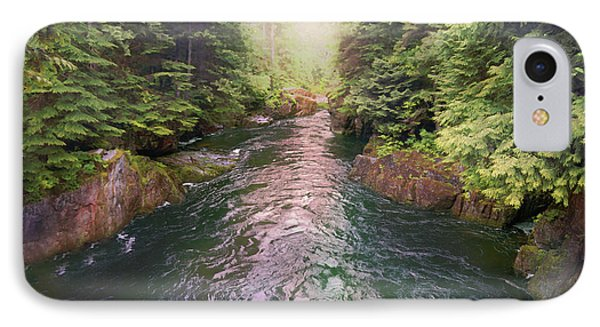 Following The Flow IPhone Case by David M ( Maclean )