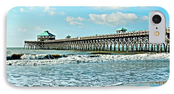 IPhone Case featuring the photograph Folly Beach Fishing Pier by Eve Spring