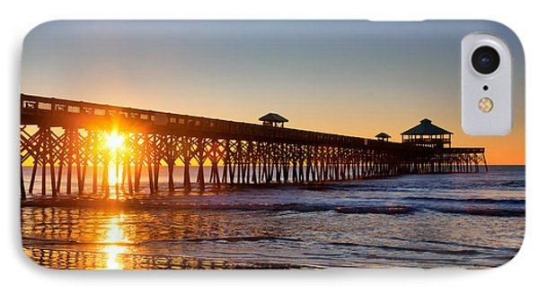 IPhone Case featuring the photograph Folly Beach Pier At Sunrise by Lynne Jenkins