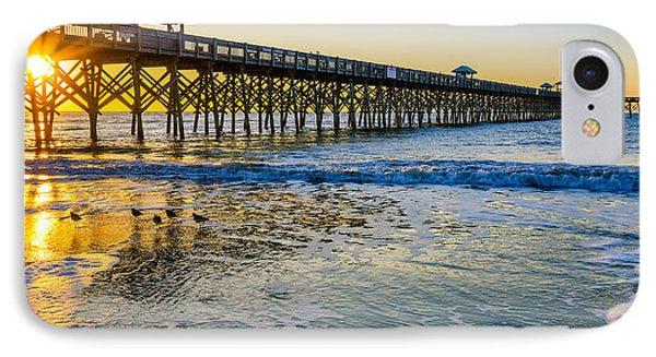 Folly Beach Sunrise IPhone Case by Anthony Heflin