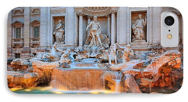 Fontana Di Trevi IPhone Case by Inge Johnsson