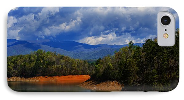 Fontana Lake Storm IPhone Case by Chris Flees