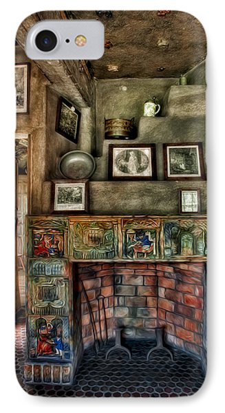 Fonthill Castle Bedroom Fireplace IPhone Case by Susan Candelario