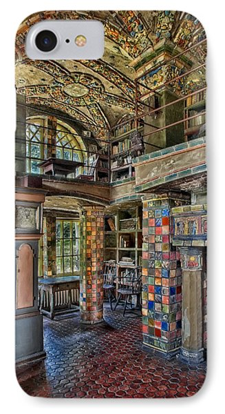Fonthill Castle Library Room Phone Case by Susan Candelario